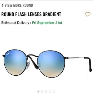 Ray-Ban Round Flash Lenses Blue Gradient